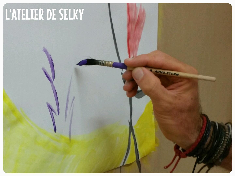 premières séances du jeu de peindre  3