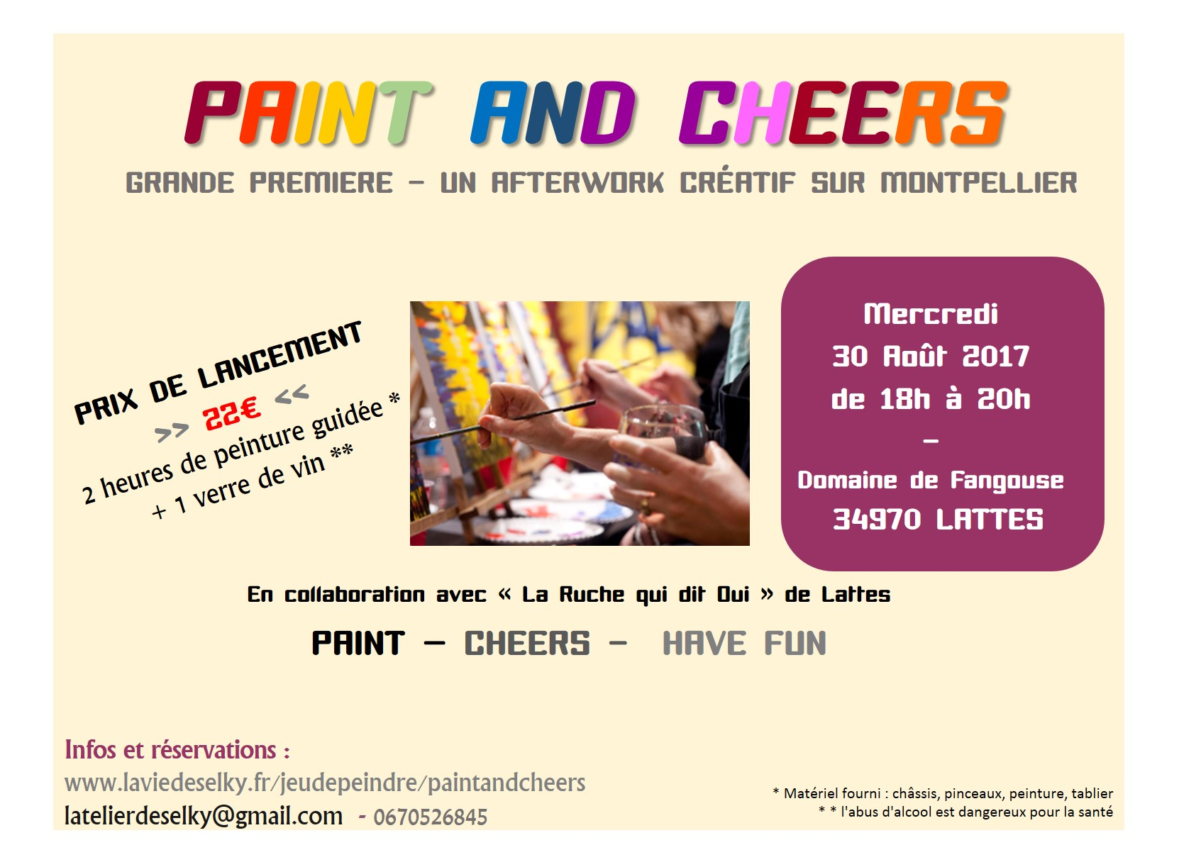 1ere soirée paint and cheers