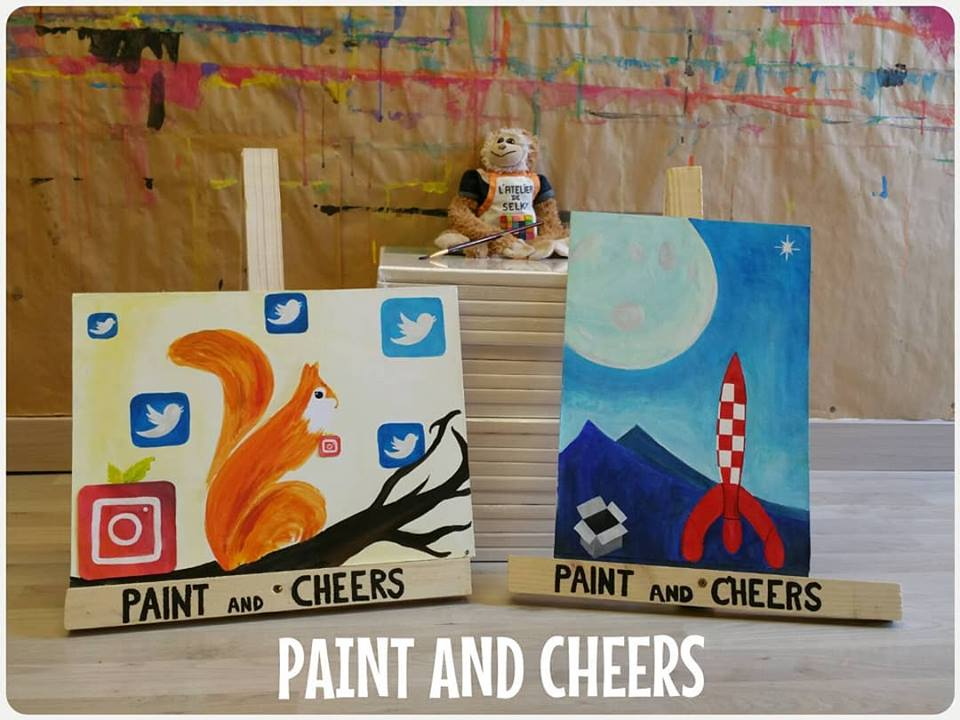 soirée paint and cheers entreprise