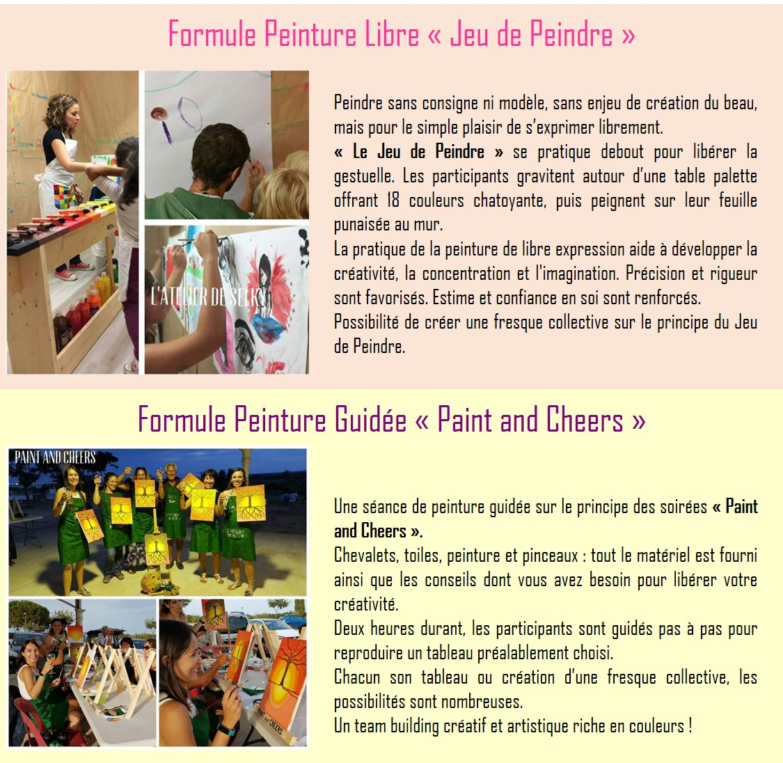 atelier selky paint and cheers entreprise