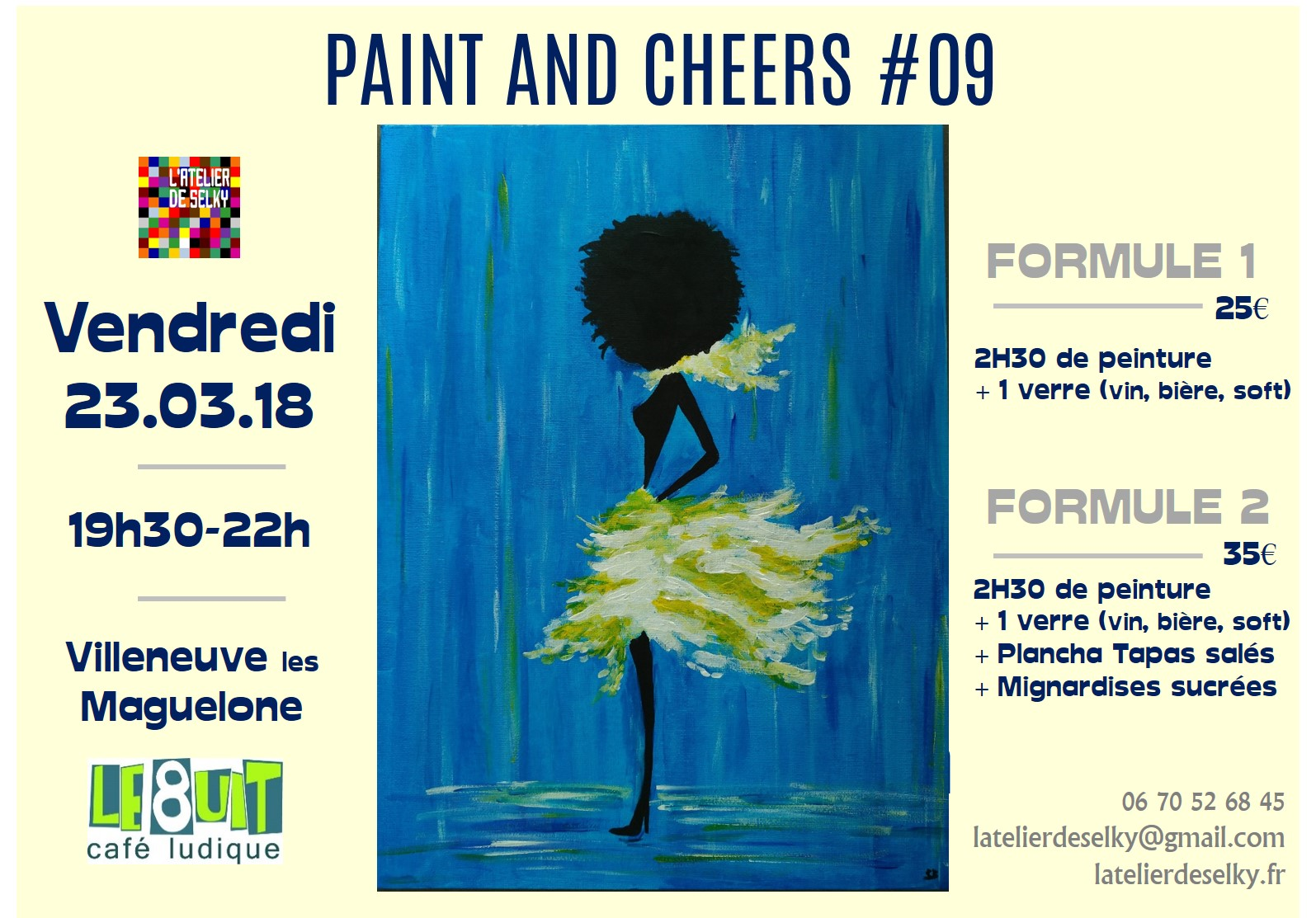 soirée paint and cheers