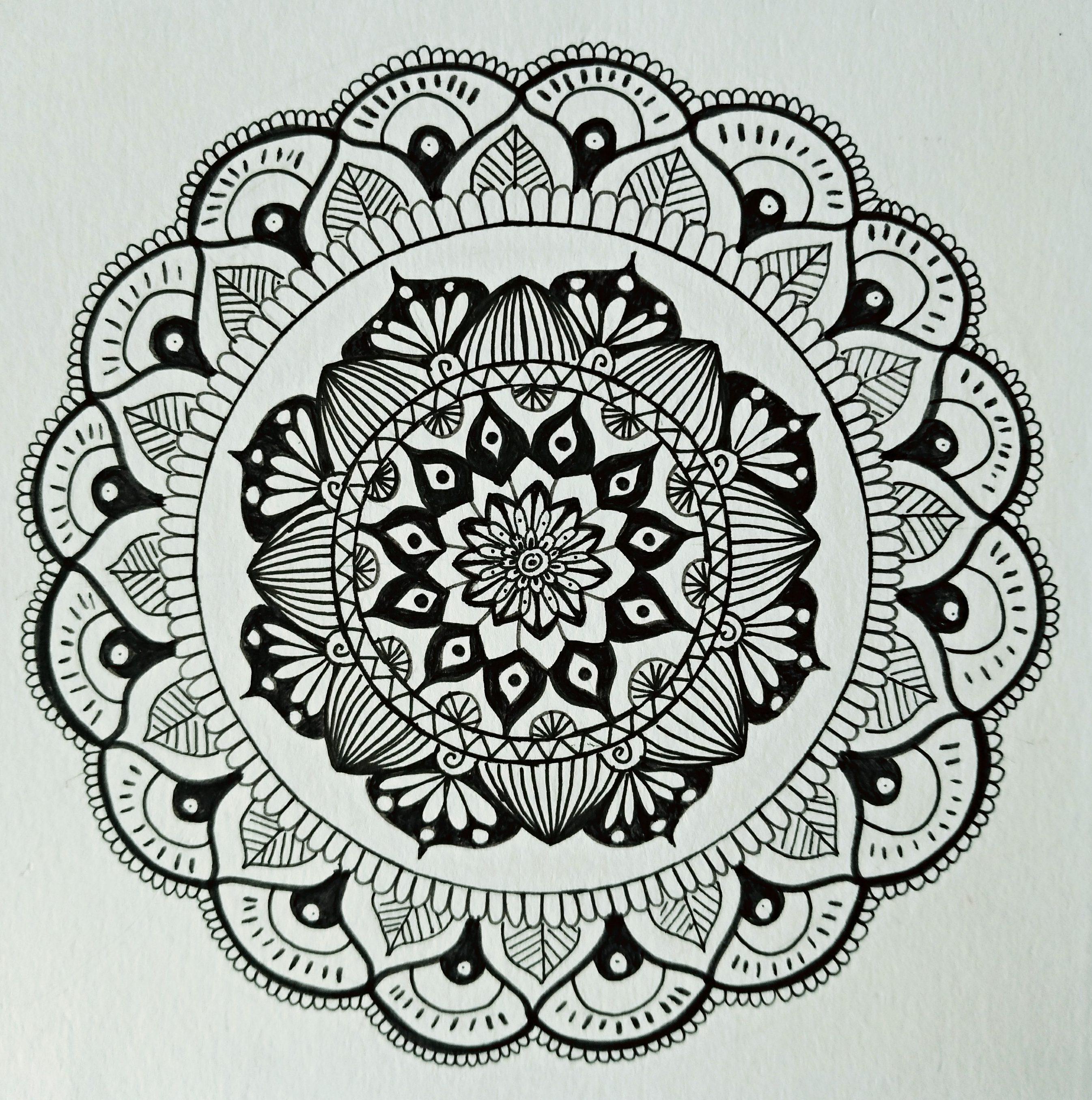 dessin méditatif zen doodle a