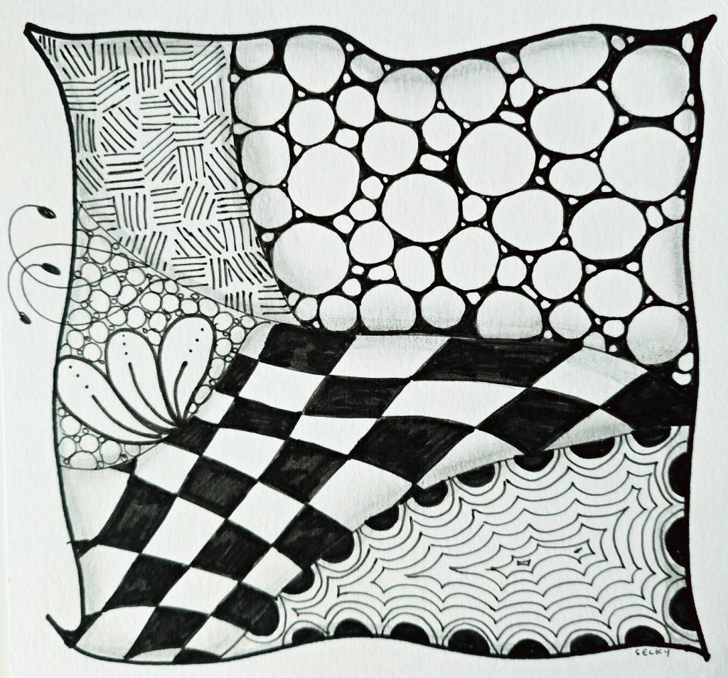 Atelier de Selky - dessin méditatif Zen and Doodle 2