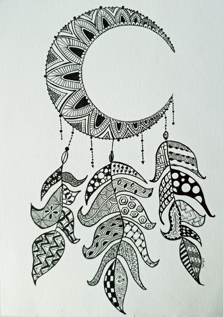Atelier de Selky - dessin méditatif Zen and Doodle 1
