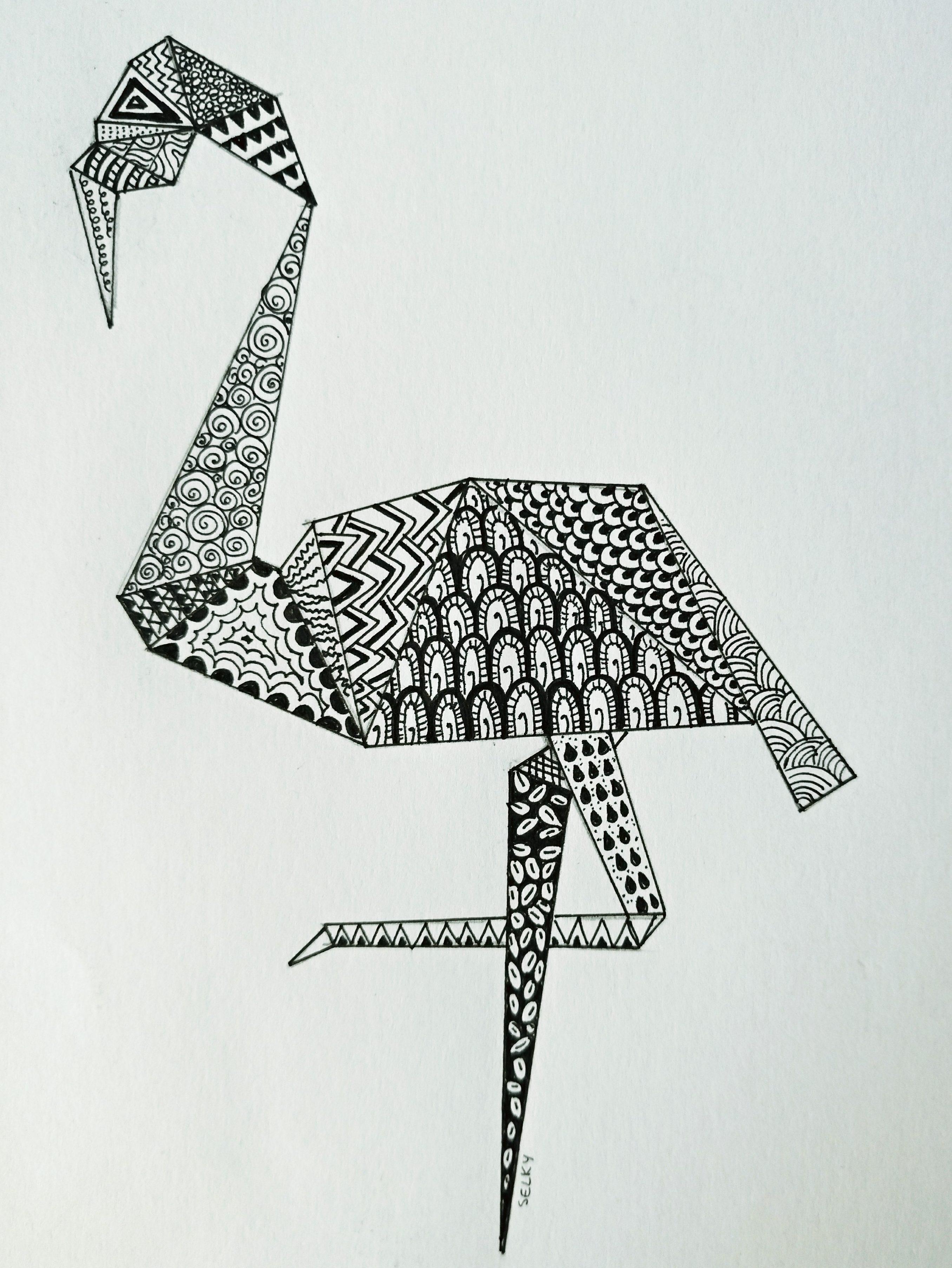dessin méditatif zen doodle b