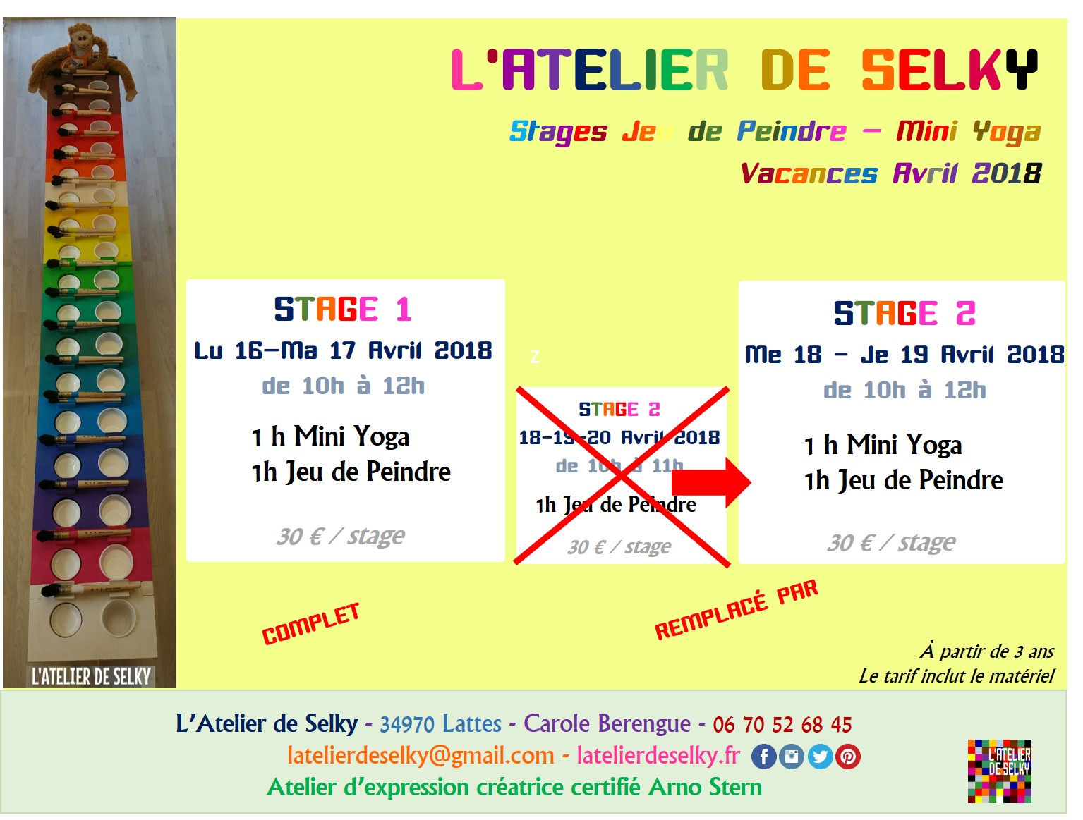 stages atelier selky