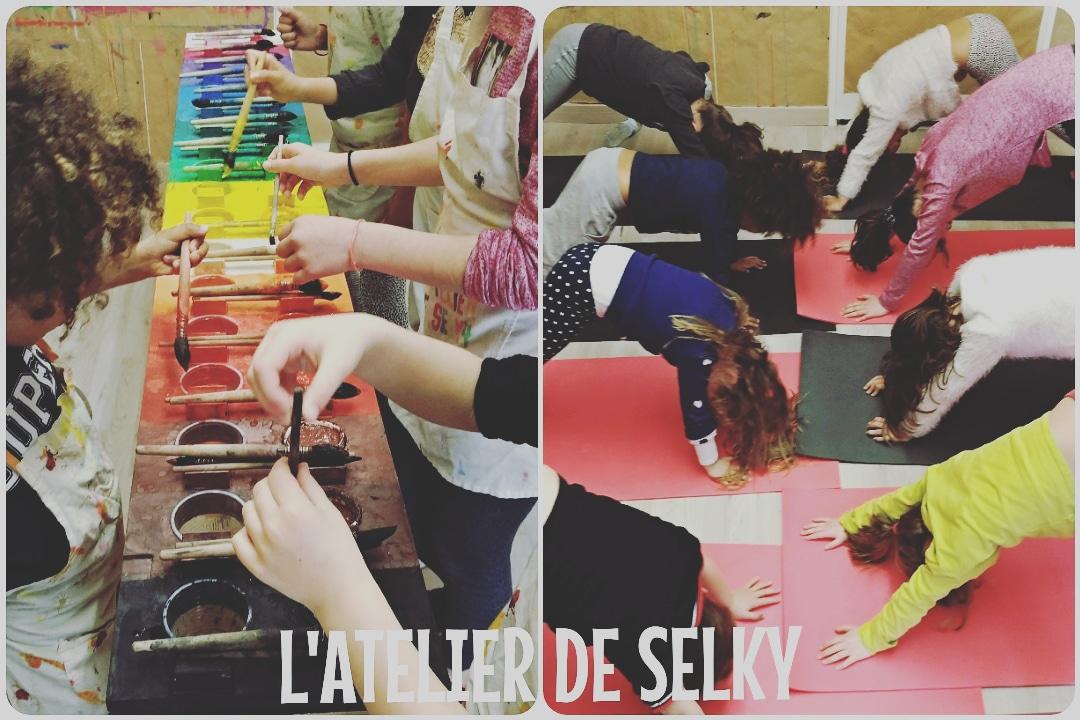 Retour en images - stages découvertes Jeu de Peindre & Mini Yoga 1