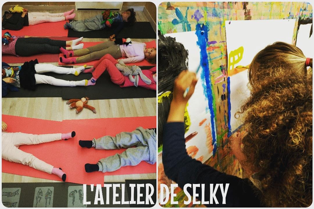 Retour en images - stages découvertes Jeu de Peindre & Mini Yoga 2