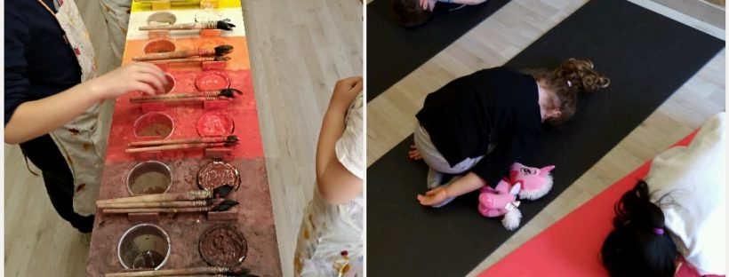 stages jeu de peindre mini yoga