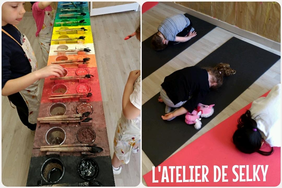 Retour en images - stages découvertes Jeu de Peindre & Mini Yoga4