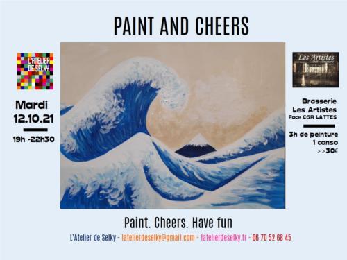 soirée paint and cheers vague